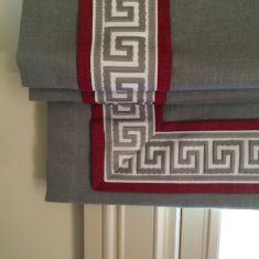 идея оформления римской шторы